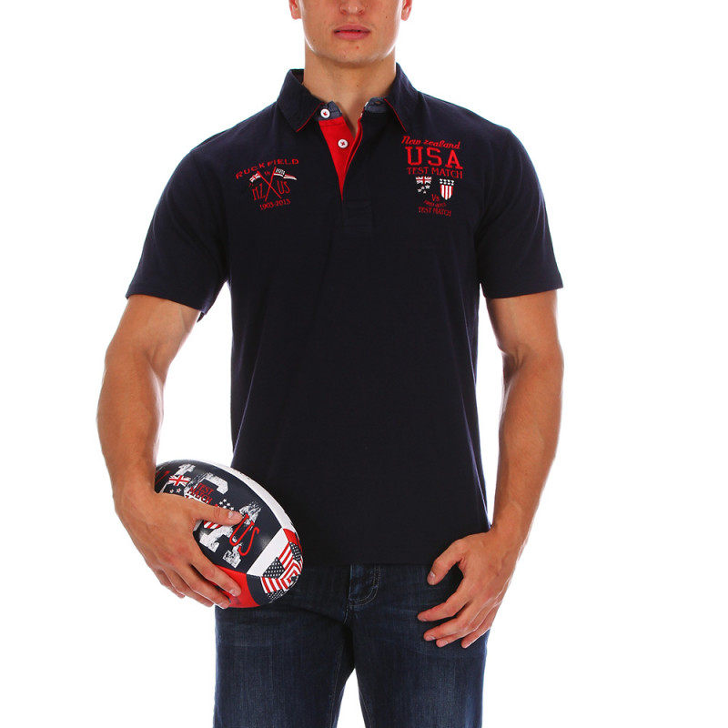 Blue rugby USA polo shirt