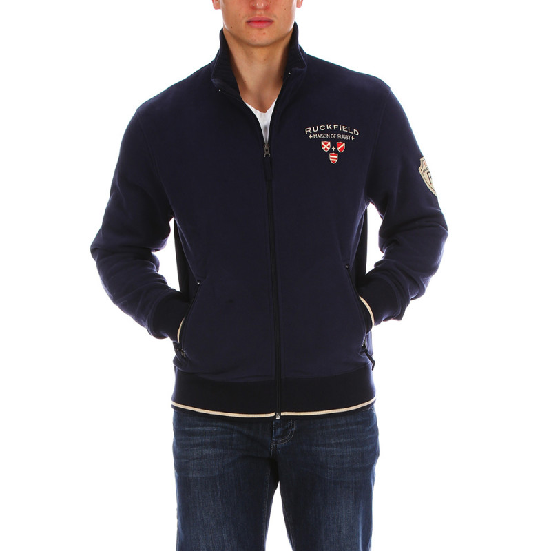 1977 navy blue zip-up sweatshirt