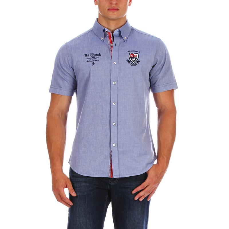 The Crunch blue shirt