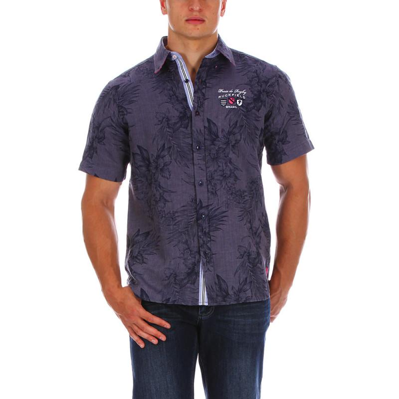 Floral linen shirt