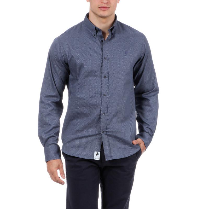 Chemise Chabal bleue à motifs