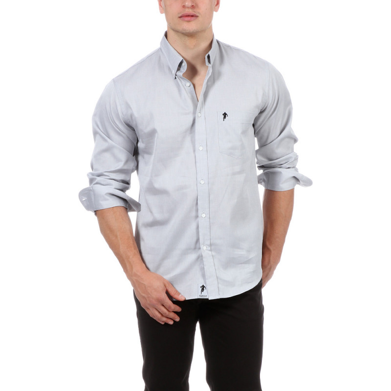 Chemise gris clair Ruckfield