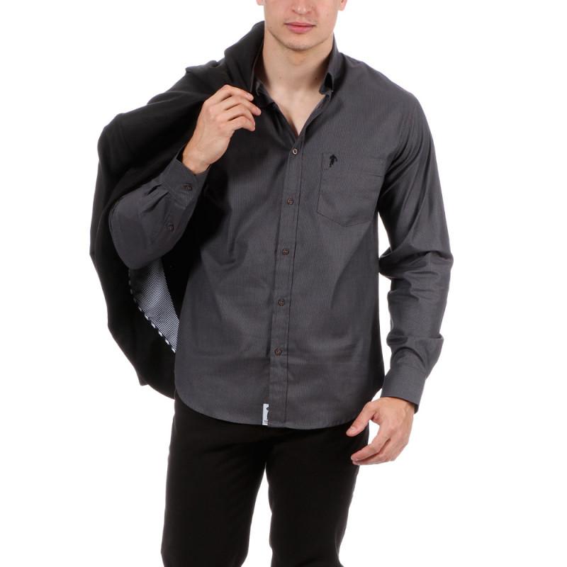 Chemise indigo avec poche