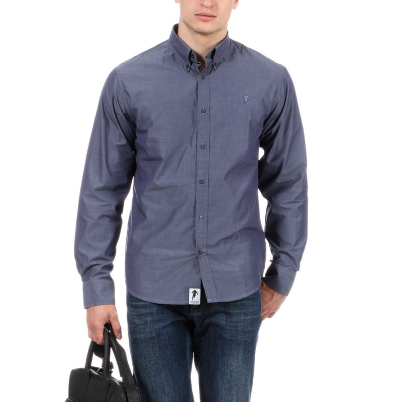 Chemise bleue à motifs Ruckfield