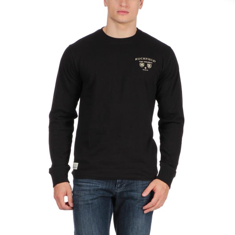 T-shirt col rond manches longues noir
