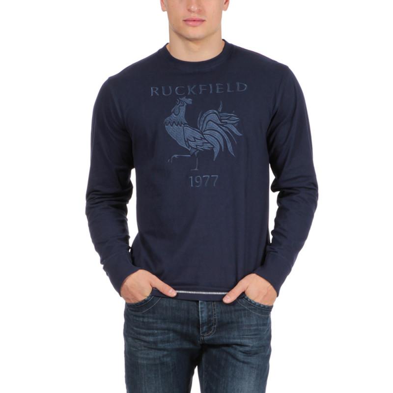 T-shirt bleu rugby vintage