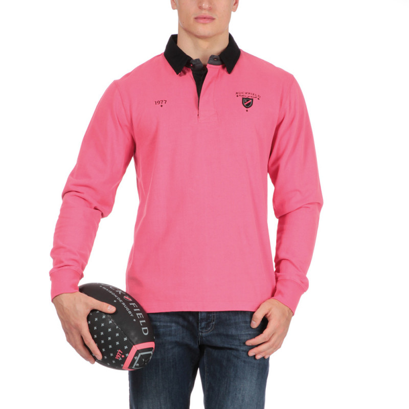 Polo rose rugby Chabal