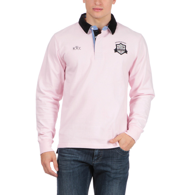 Polo rose rugby