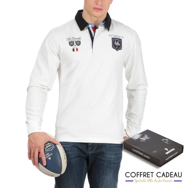 Polo de rugby blanc the Crunch