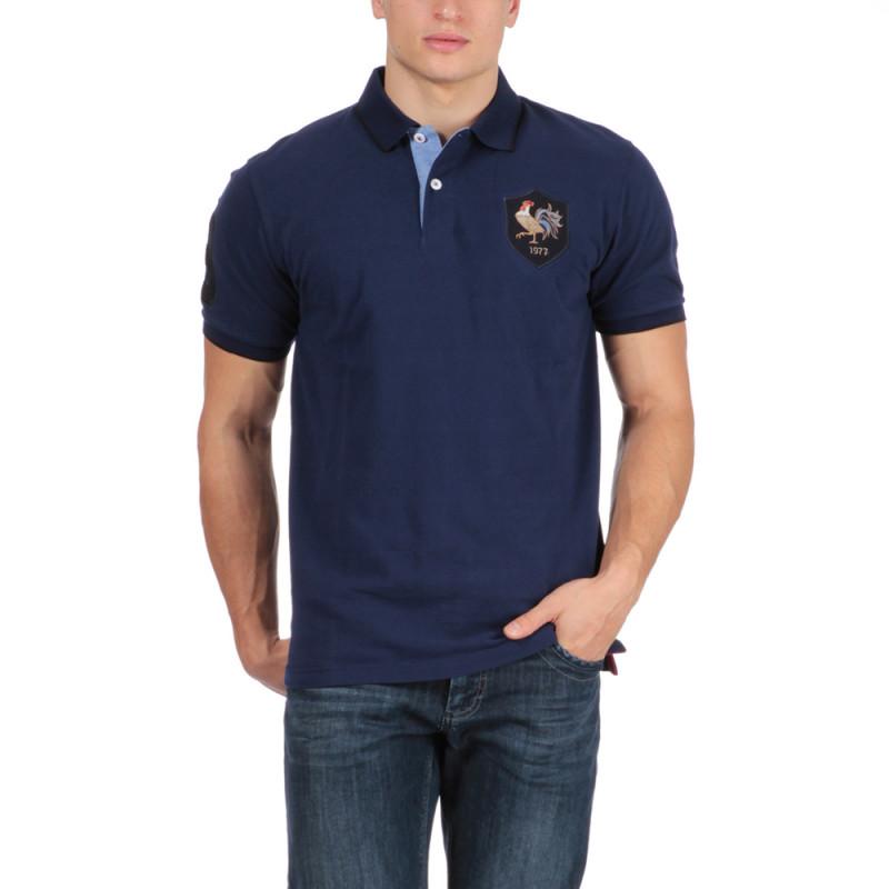 Polo manches courtes bleu France