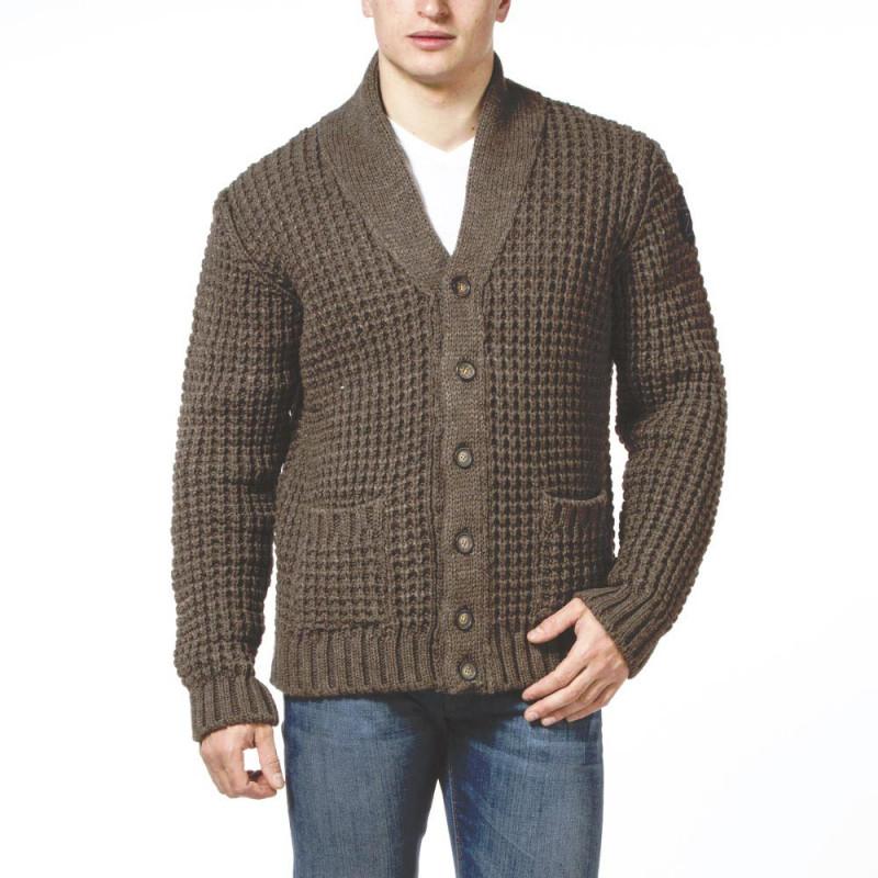 Cardigan en laine marron Ruckfield