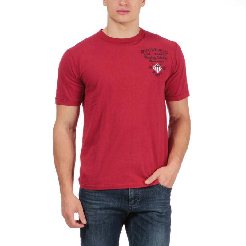 T-shirt rouge rugby aventure