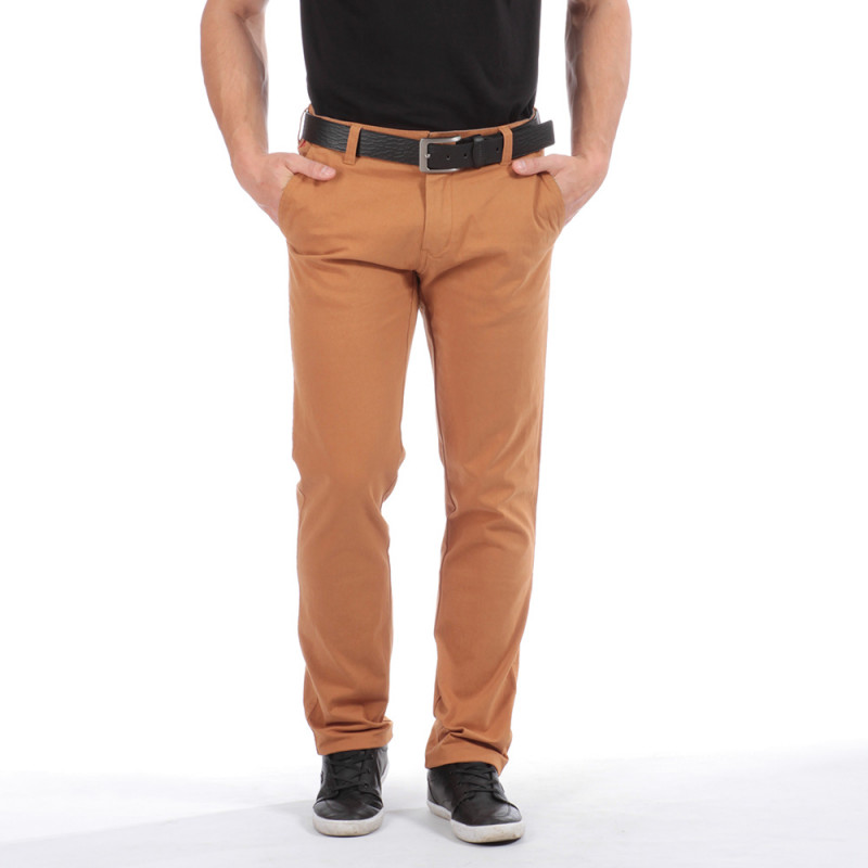 Pantalon chino marron rugby