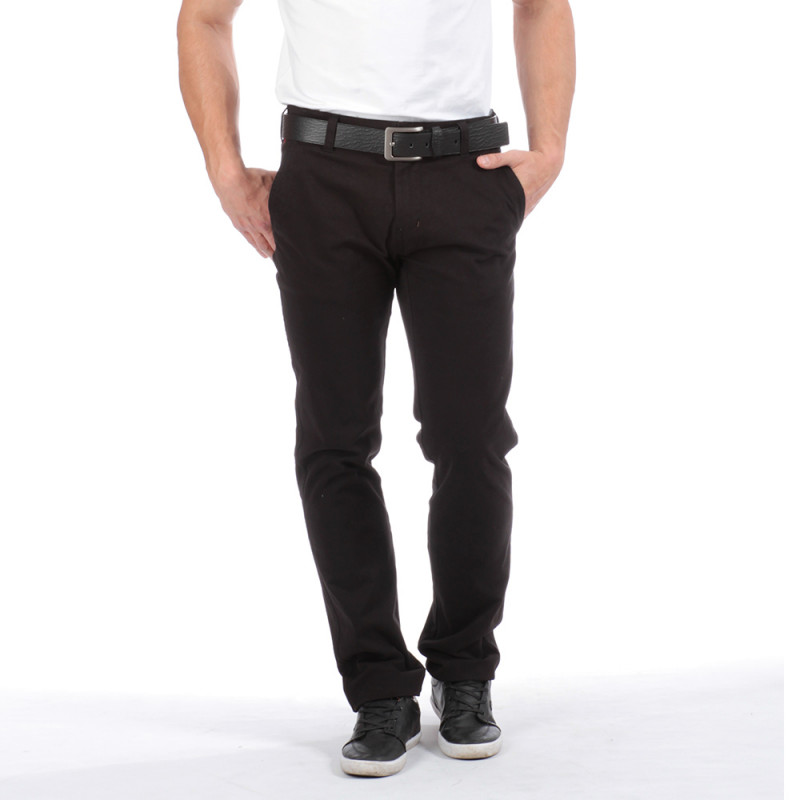 Pantalon chino noir Chabal