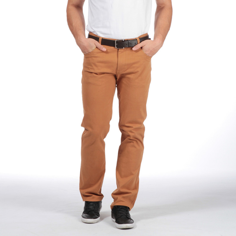 Pantalon marron 5 poches Ruckfield