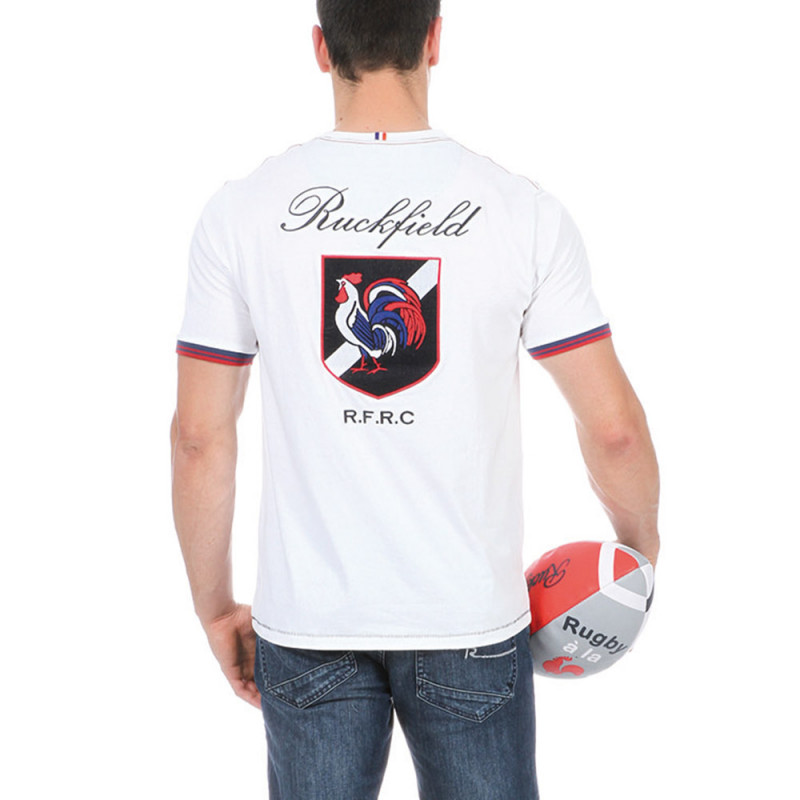 """White """"FCR"""" Rugby T-shirt"""