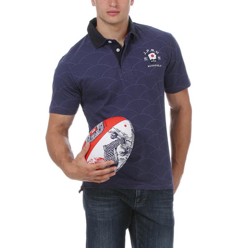 "Dark Blue ""Japan"" Rugby Polo"