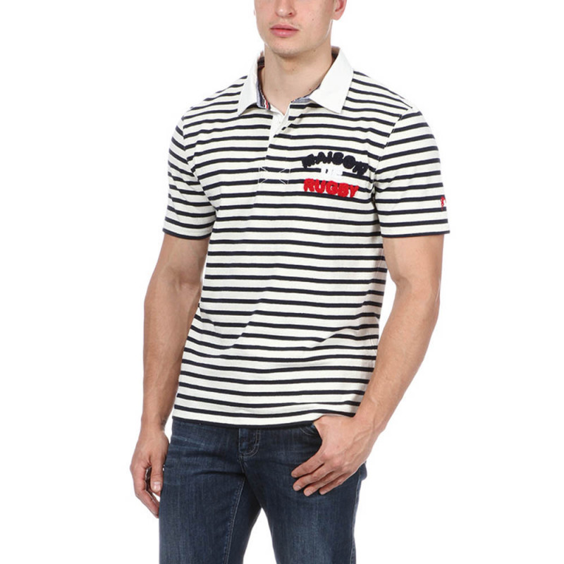 "Striped ""Maison de Rugby"" Polo"