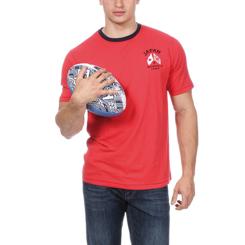 "Red ""Japan"" Rugby T-shirt"