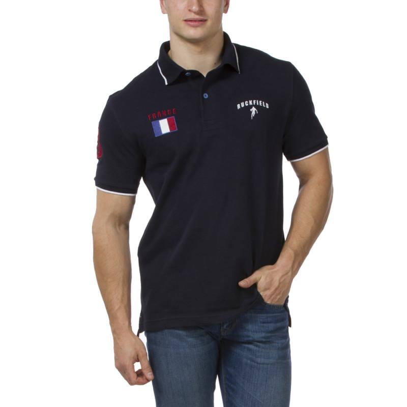 Polo piqué marine France
