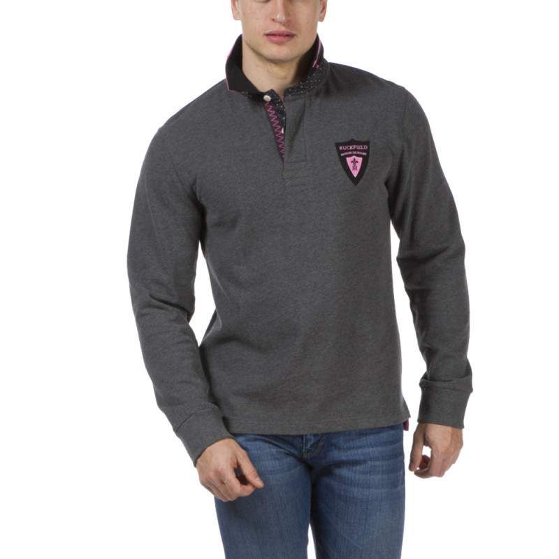 Polo anthracite Maison de rugby