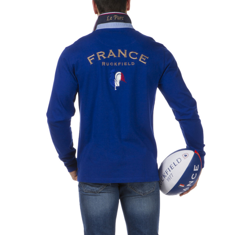 Polo bleu French Rugby Club