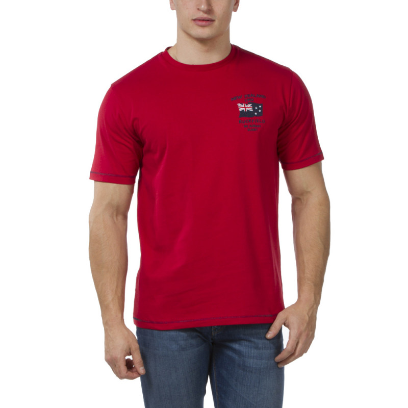 T-shirt rouge Mt Aoraki