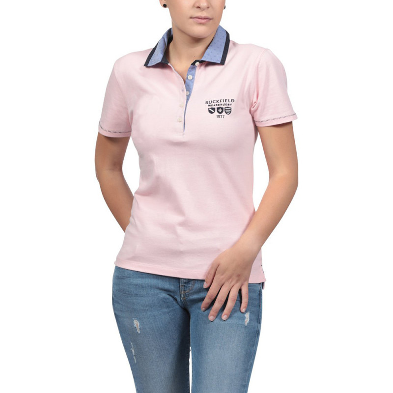 Women's We are Rugby Pink Polo Shirt
