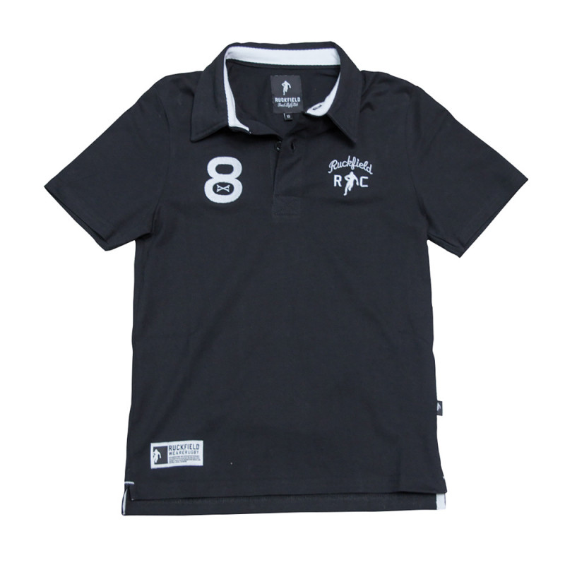 Le Chabal Black Polo Shirt For Kids