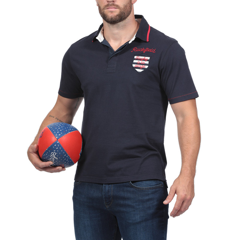 Rugby à la Plage Navy Blue Ruckfield Polo Shirt