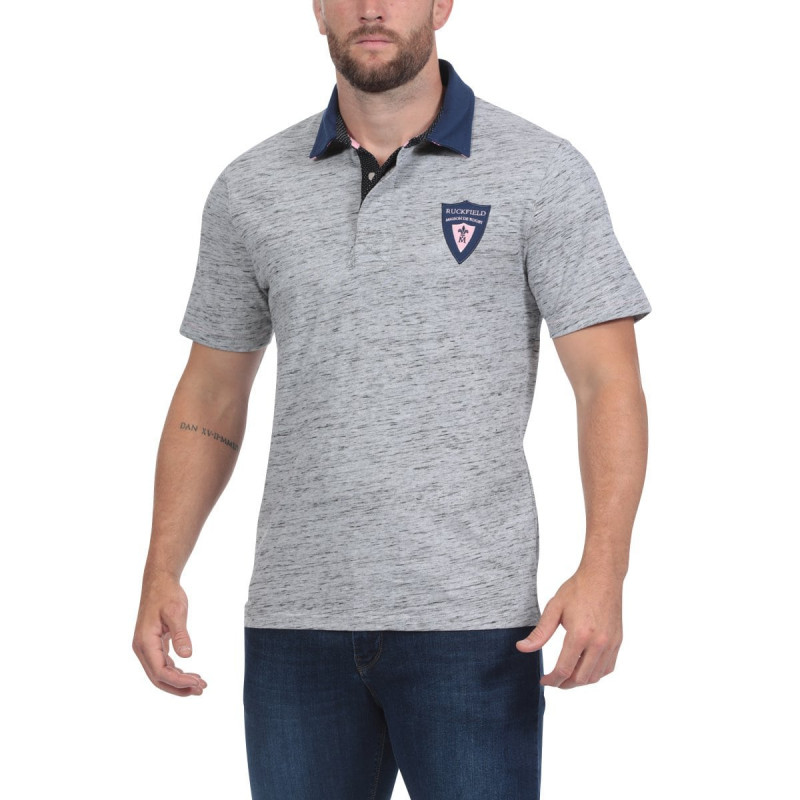 Maison de Rugby Mottled Grey Polo Shirt