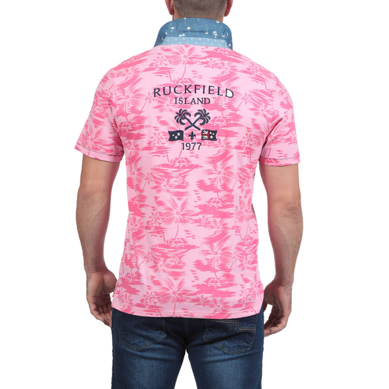 Rugby Island Pink Polo Shirt