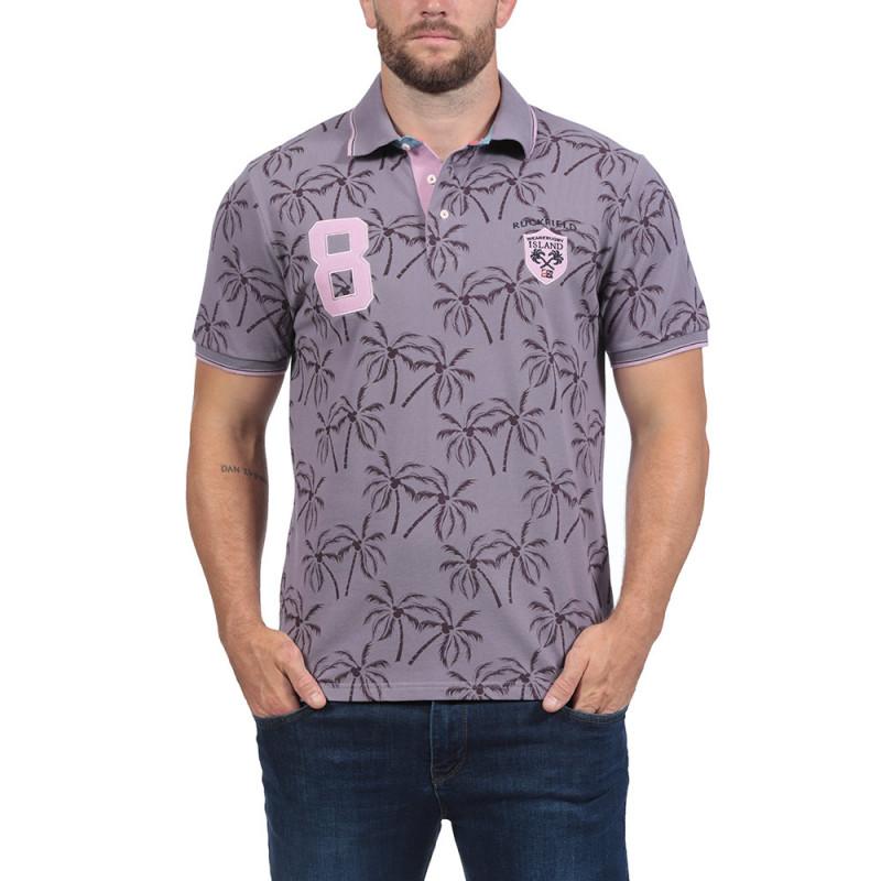 Printed Cotton Pique Polo Shirt