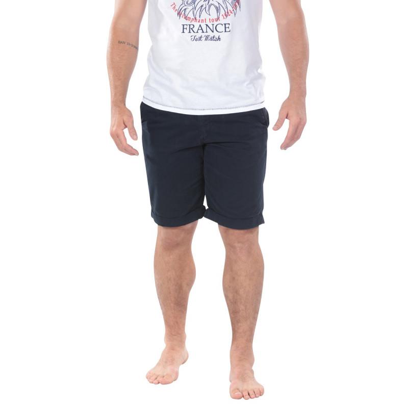 Navy Blue Chino Bermuda Shorts