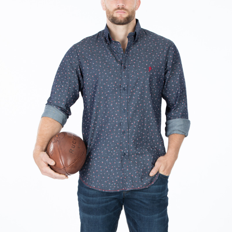 Chemise floral rugby