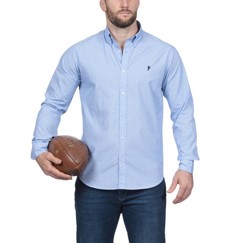 Chemise bleu essentiel rugby