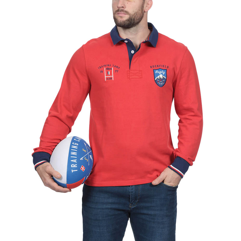 Polo outdoor rouge