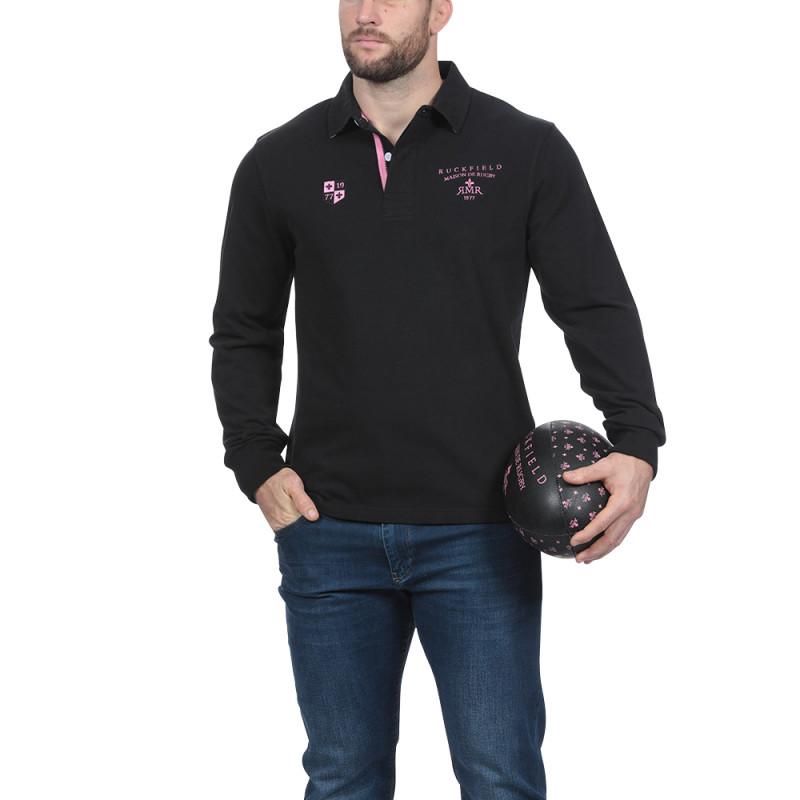 Polo noir Maison de Rugby