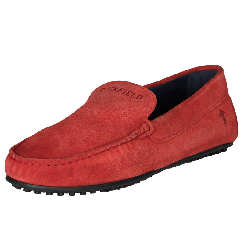 Red suede shoe