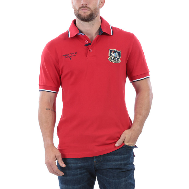 Polo rouge rugby