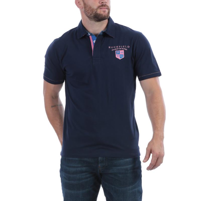 Polo bleu Maison de Rugby