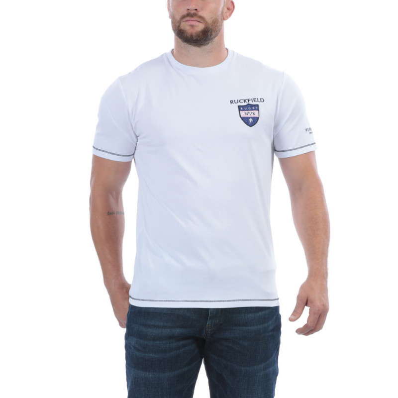 T-shirt rugby blanc