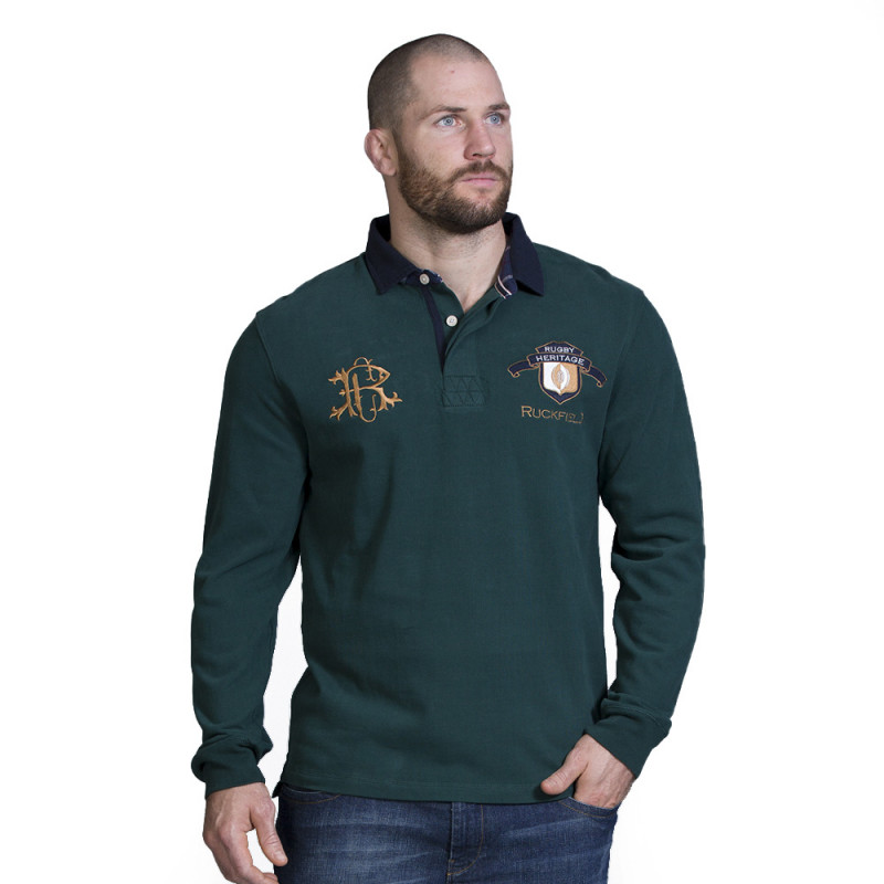 Polo vert rugby heritage