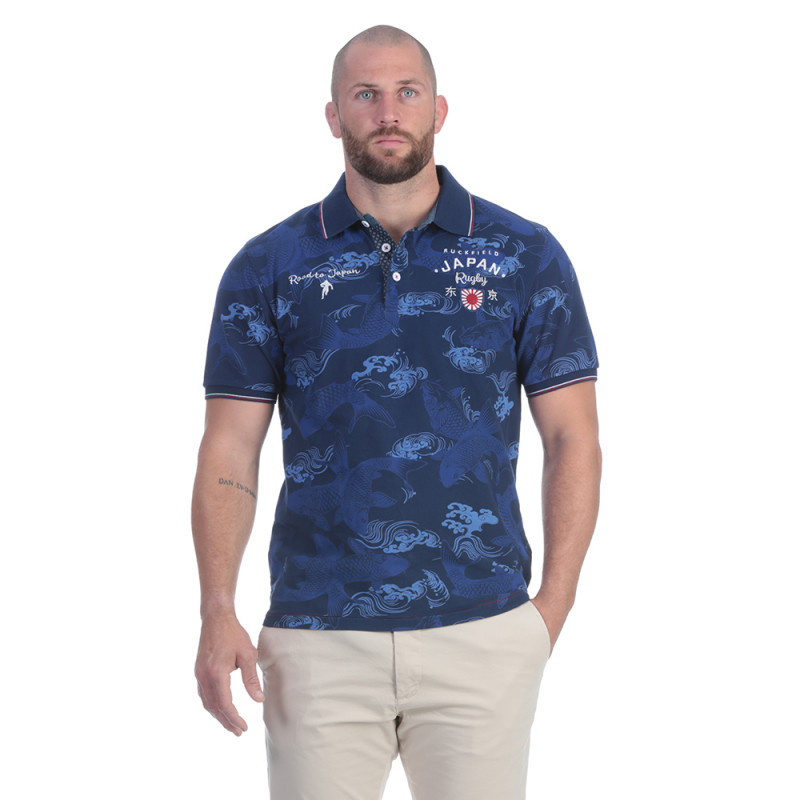 Polo bleu rugby