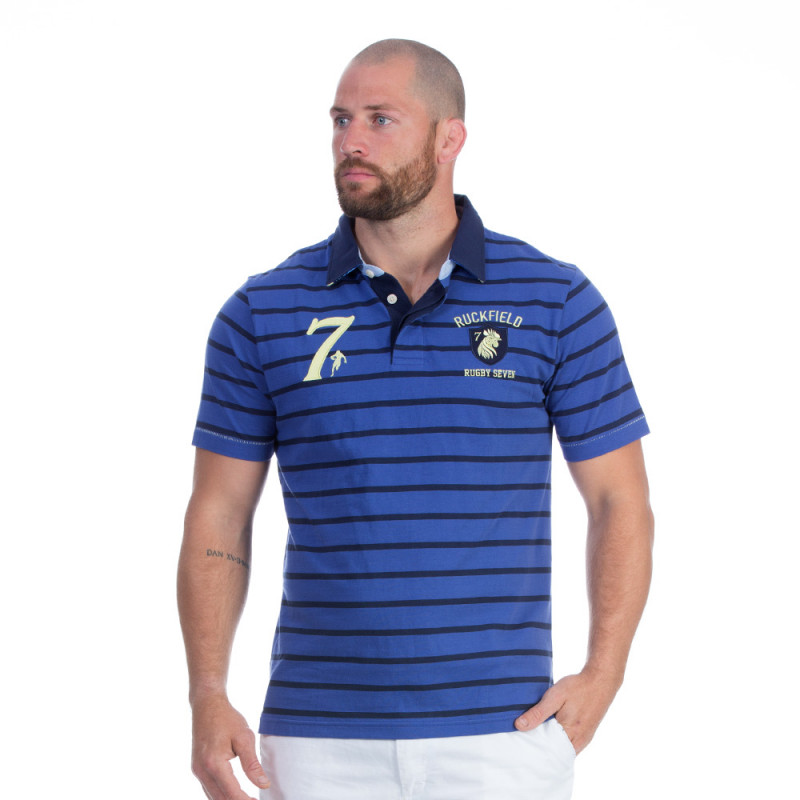 Polo rugby seven bleu