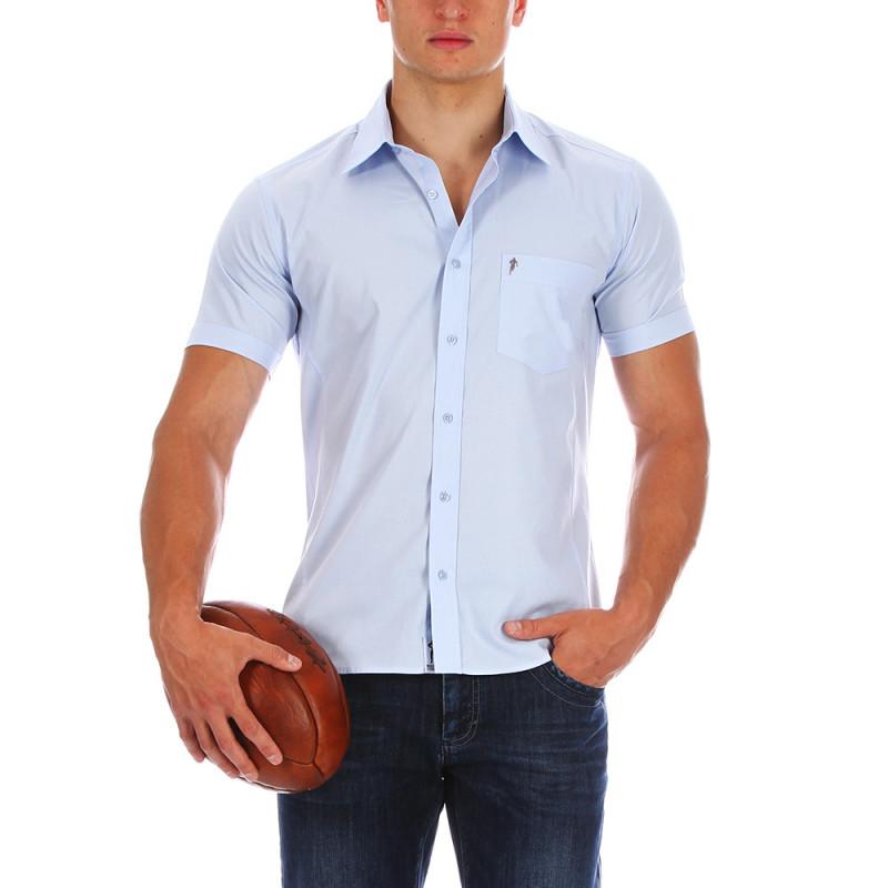 Essential sky blue shirt.
