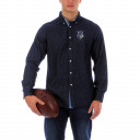 Chambray rugby shirt