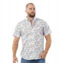 Chemise à motifs en manches courtes