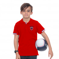 Polo manches courtes rouge enfant French Rugby Club