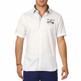 Men's white Rugby Italia collection shirt